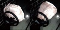 Разная степень открытия подушек безопасности