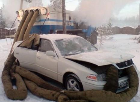 zavesti avto zima sever